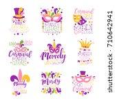 Mardi Gras Logo Set Original...