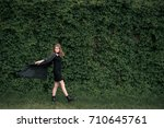 beautiful young girl... | Shutterstock . vector #710645761