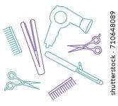 flat design elements of... | Shutterstock .eps vector #710648089