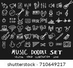 music doodles line vector...   Shutterstock .eps vector #710649217