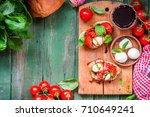 italian cooking concept.... | Shutterstock . vector #710649241
