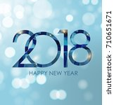 2018 new year gold glossy... | Shutterstock . vector #710651671