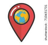 location pin vector icon | Shutterstock .eps vector #710651731
