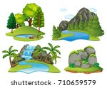 background scenes with forest...