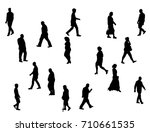 silhouette of people collection ... | Shutterstock .eps vector #710661535