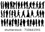 silhouette people collection ... | Shutterstock .eps vector #710661541