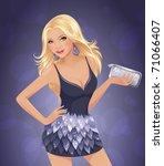 fashion disco girl | Shutterstock .eps vector #71066407