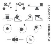set of physics icon and science ... | Shutterstock .eps vector #710664979