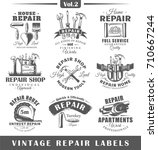 Set Of Vintage Repair Labels....