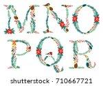 cute vintage hand drawn rustic... | Shutterstock .eps vector #710667721