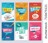 sale  discount and promotion... | Shutterstock .eps vector #710673121