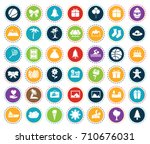holiday icons | Shutterstock .eps vector #710676031