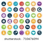 shipping icons | Shutterstock .eps vector #710676094