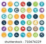 navigation icons   Shutterstock .eps vector #710676229