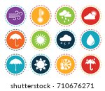 weather icons | Shutterstock .eps vector #710676271