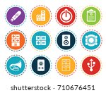 electronic icons | Shutterstock .eps vector #710676451
