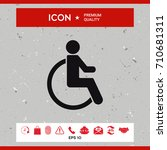 wheelchair handicap icon | Shutterstock .eps vector #710681311