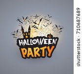 halloween party card template   ...   Shutterstock .eps vector #710687689
