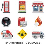 vector gas station icon set | Shutterstock .eps vector #71069281