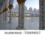 inside sheik zayed mosque in...   Shutterstock . vector #710696017