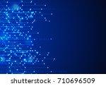 vector abstract futuristic... | Shutterstock .eps vector #710696509