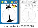 preschool worksheet for... | Shutterstock .eps vector #710705389