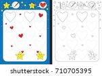 preschool worksheet for... | Shutterstock .eps vector #710705395
