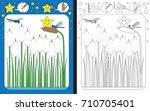 preschool worksheet for... | Shutterstock .eps vector #710705401