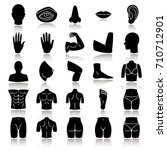 body parts drop shadow black... | Shutterstock .eps vector #710712901