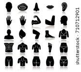 body parts drop shadow black... | Shutterstock .eps vector #710712901