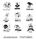 halloween party  hand drawn... | Shutterstock .eps vector #710716801