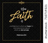 now faith is confidence in what ... | Shutterstock .eps vector #710719321