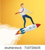 success in business start up... | Shutterstock .eps vector #710720635