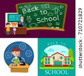 back to school concept  lesson... | Shutterstock .eps vector #710721829