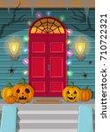 vector illustration of a night... | Shutterstock .eps vector #710722321