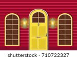 vector flat icons windows and... | Shutterstock .eps vector #710722327