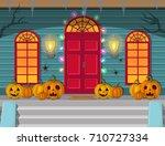 vector illustration of a night... | Shutterstock .eps vector #710727334