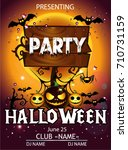 halloween party cartoon | Shutterstock .eps vector #710731159