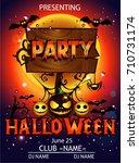 halloween party cartoon | Shutterstock .eps vector #710731174