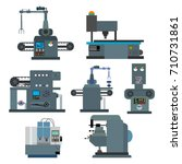 industrial machine for the... | Shutterstock .eps vector #710731861