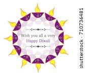 illustration of happy diwali... | Shutterstock .eps vector #710736481