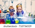 student doing research with... | Shutterstock . vector #710736529