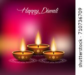 illustration of happy diwali... | Shutterstock .eps vector #710736709