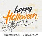 halloween typographic banner... | Shutterstock .eps vector #710737669