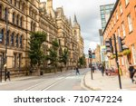 streets of manchester. the... | Shutterstock . vector #710747224