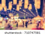 abstract blur image of shopping ... | Shutterstock . vector #710747581