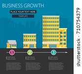 growth of business. buildings... | Shutterstock .eps vector #710754379