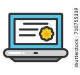 online degree vector icon | Shutterstock .eps vector #710755339