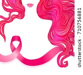 october  breast cancer... | Shutterstock .eps vector #710756881