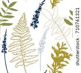 floral vector seamless pattern... | Shutterstock .eps vector #710761321